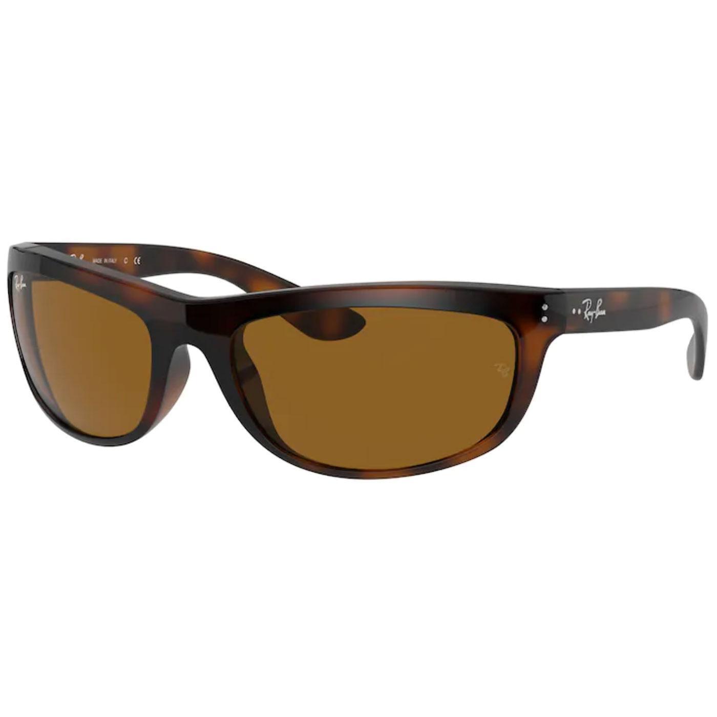 Balorama RAY-BAN Wrap Round Sunglasses - Dk Havana
