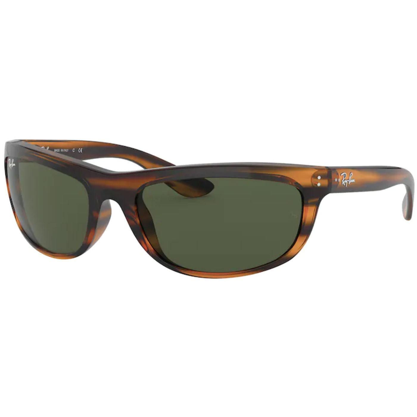Balorama RAY-BAN Retro Wrap Round Sunglasses (SRH)