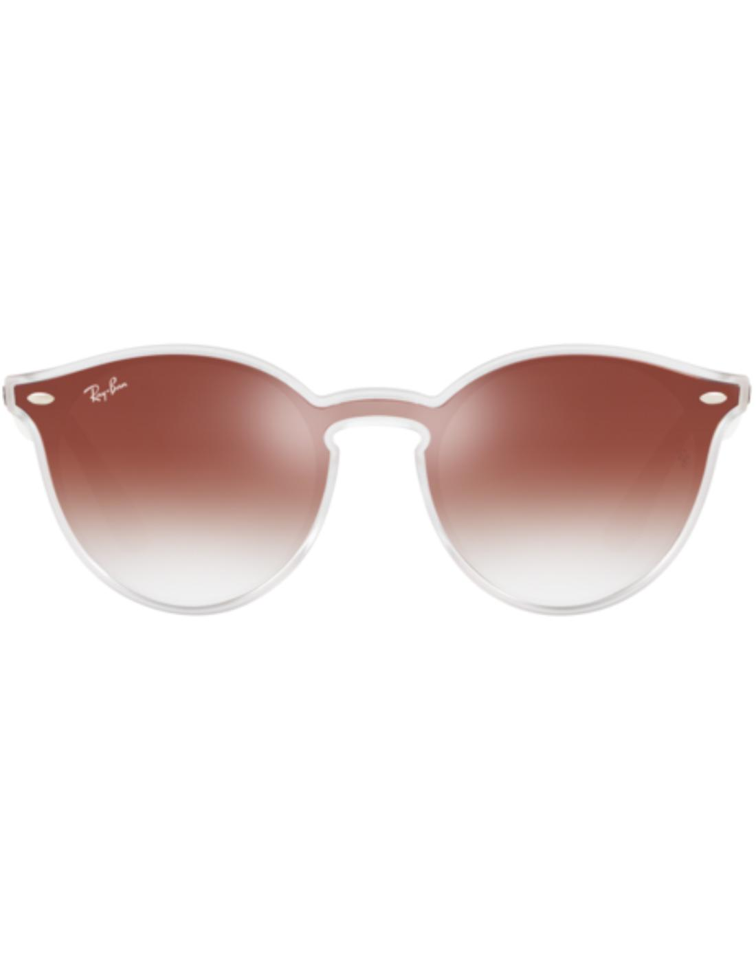 Blaze Clubround RAY-BAN Mirror Sunglasses in Red
