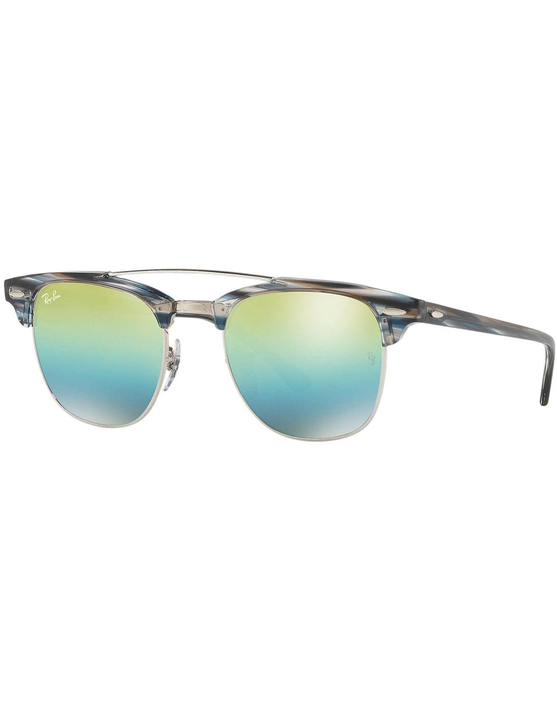 Clubmaster RAY-BAN Double Bridge Sunglasses SILVER