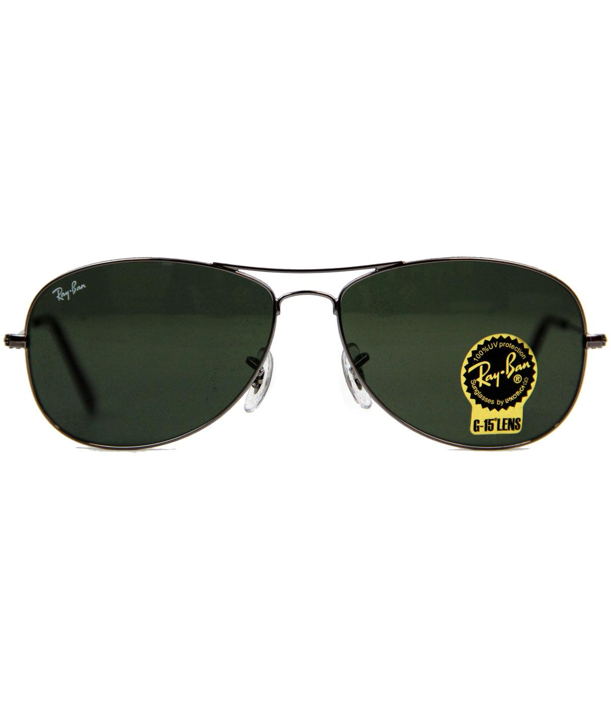 Cockpit Ray-Ban Retro Indie Mod Aviator Sunglasses