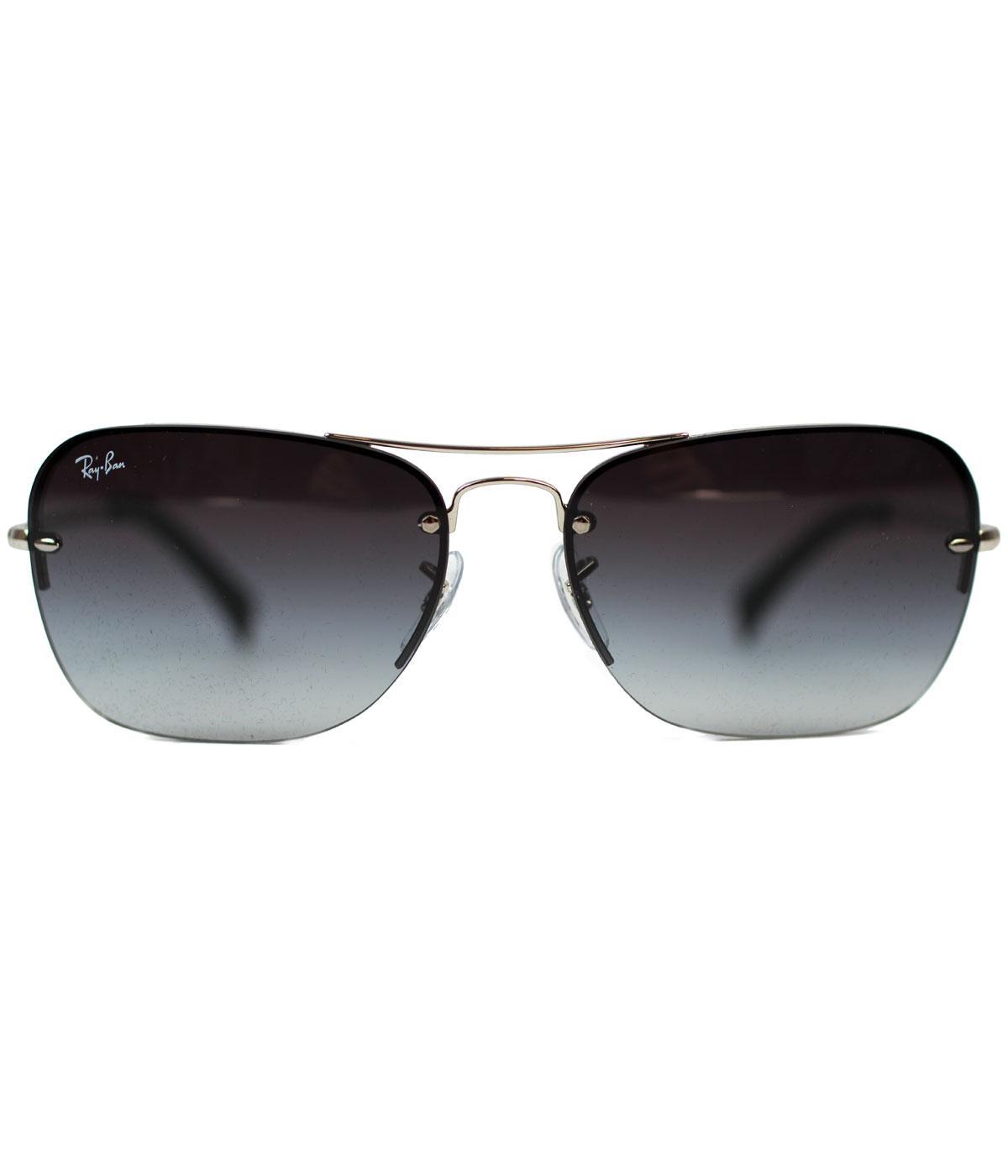 pilot ray ban  RAY-BAN Retro 70s Pilot Aviator Sunglasses in Silver/Grey