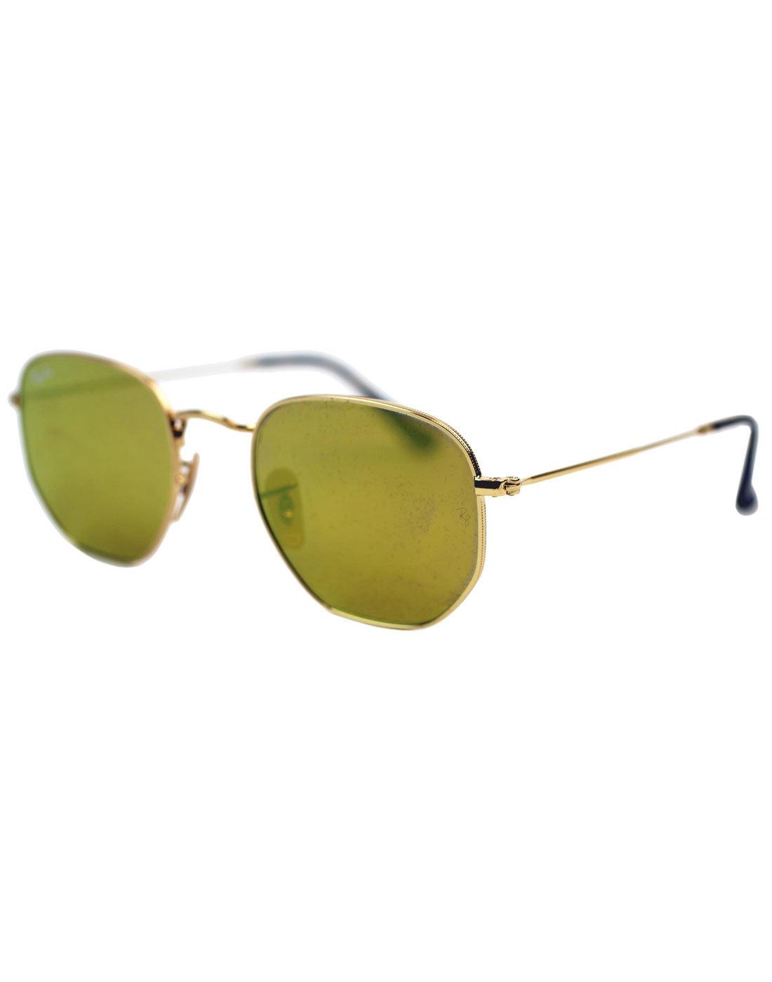 Hexagonal Round RAY-BAN Mod Gold Flash Sunglasses
