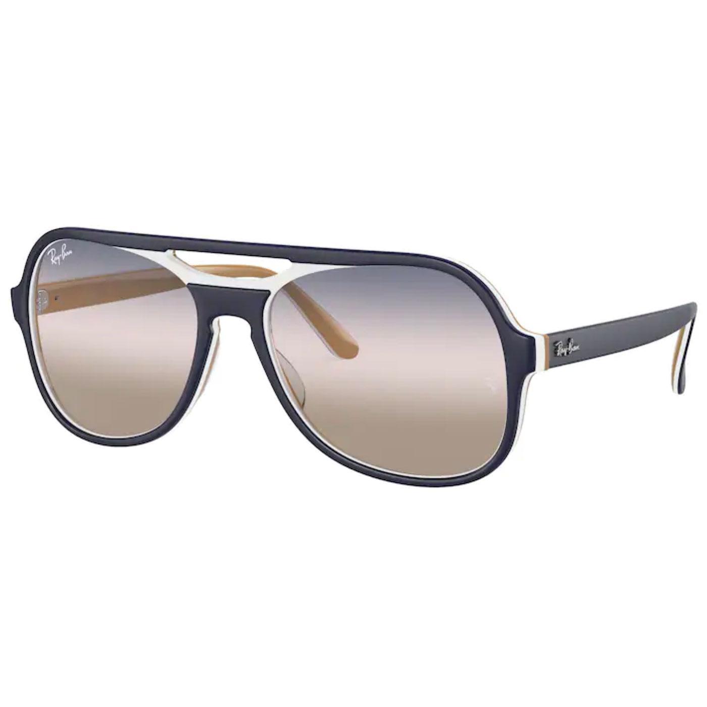Powderhorn RAY-BAN 70s 2-Tone Aviator Sunglasses C
