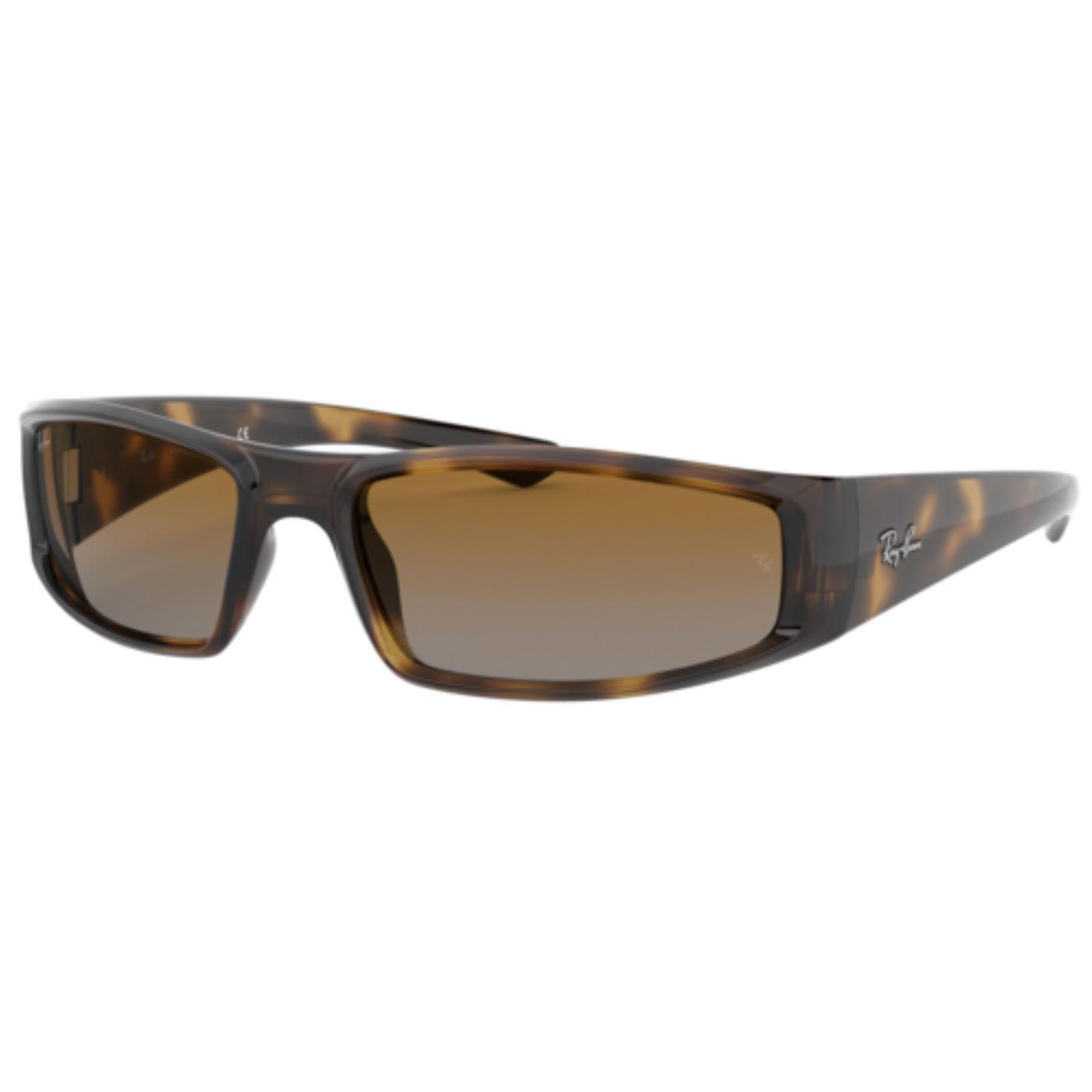 RAY-BAN RB4335 Retro Wrap Round Sunglasses HAVANA
