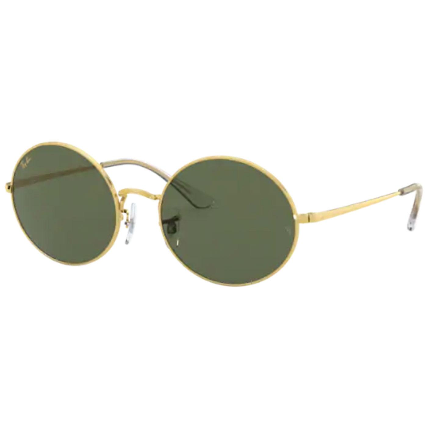 RAY-BAN RB1970 Retro Oval Sunglasses (Legend Gold)