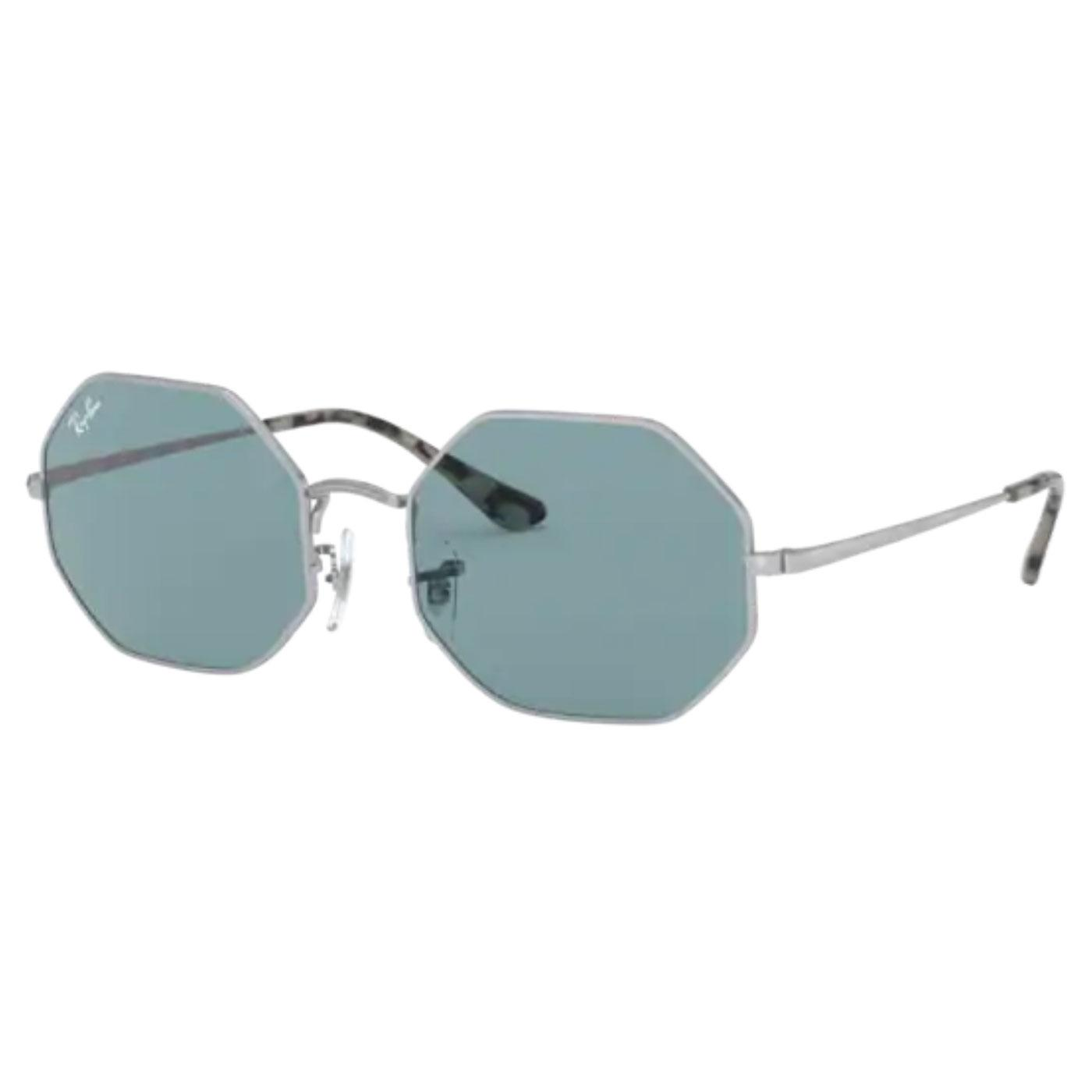 RAY-BAN RB1972 Octagon Sunglasses (Silver/Blue)