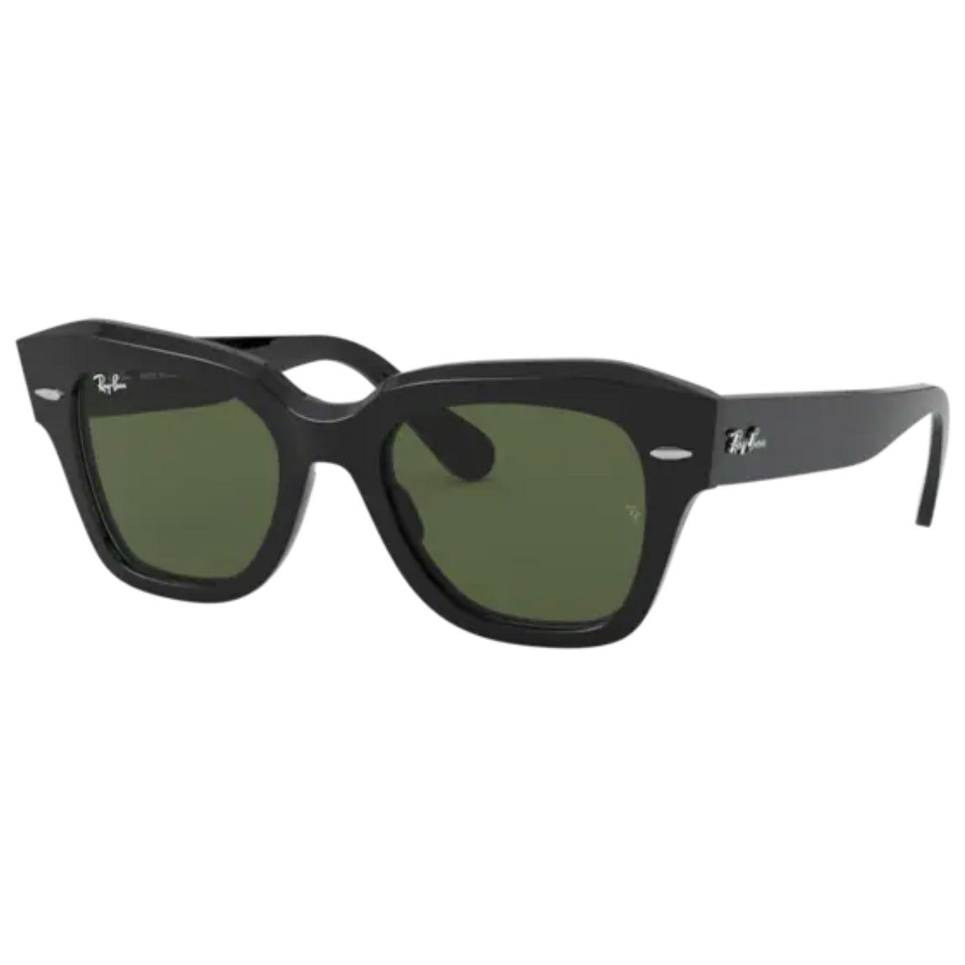 RAY-BAN RB2186 Cats Eye Wayfarer Sunglasses BLACK