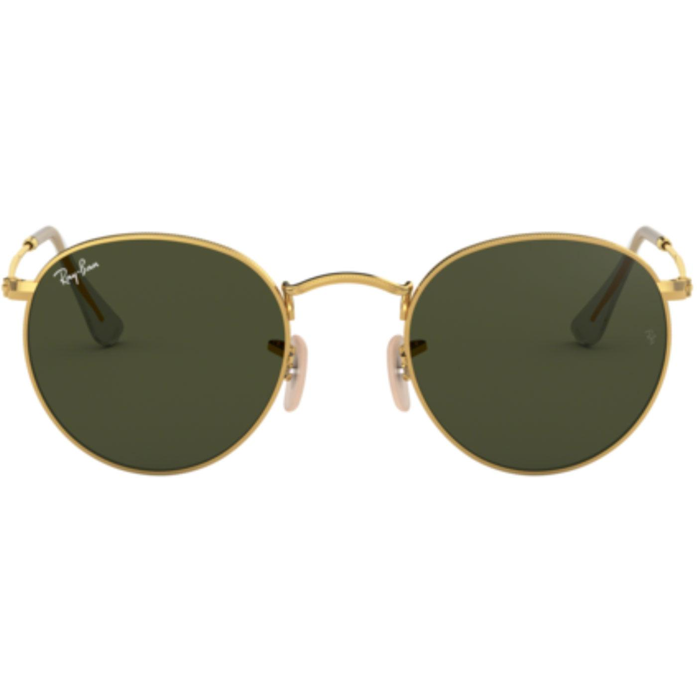 Ray-Ban Round Retro Mod 60s Sunglasses Gold/Green