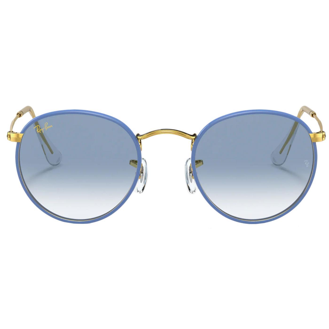 RAY-BAN Round Full Colour Retro 60s Sunglasses Bl