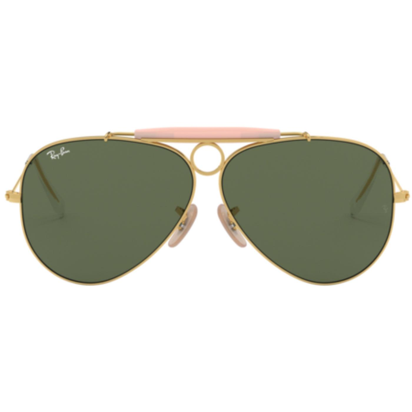 Shooter RAY-BAN Icon Retro 70s Mod Sunglasses Gold