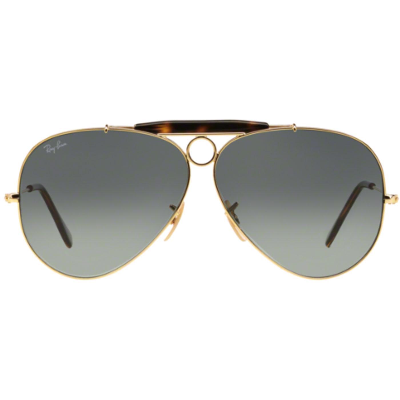 Shooter RAY-BAN Retro 70s Mod Aviator Sunglasses