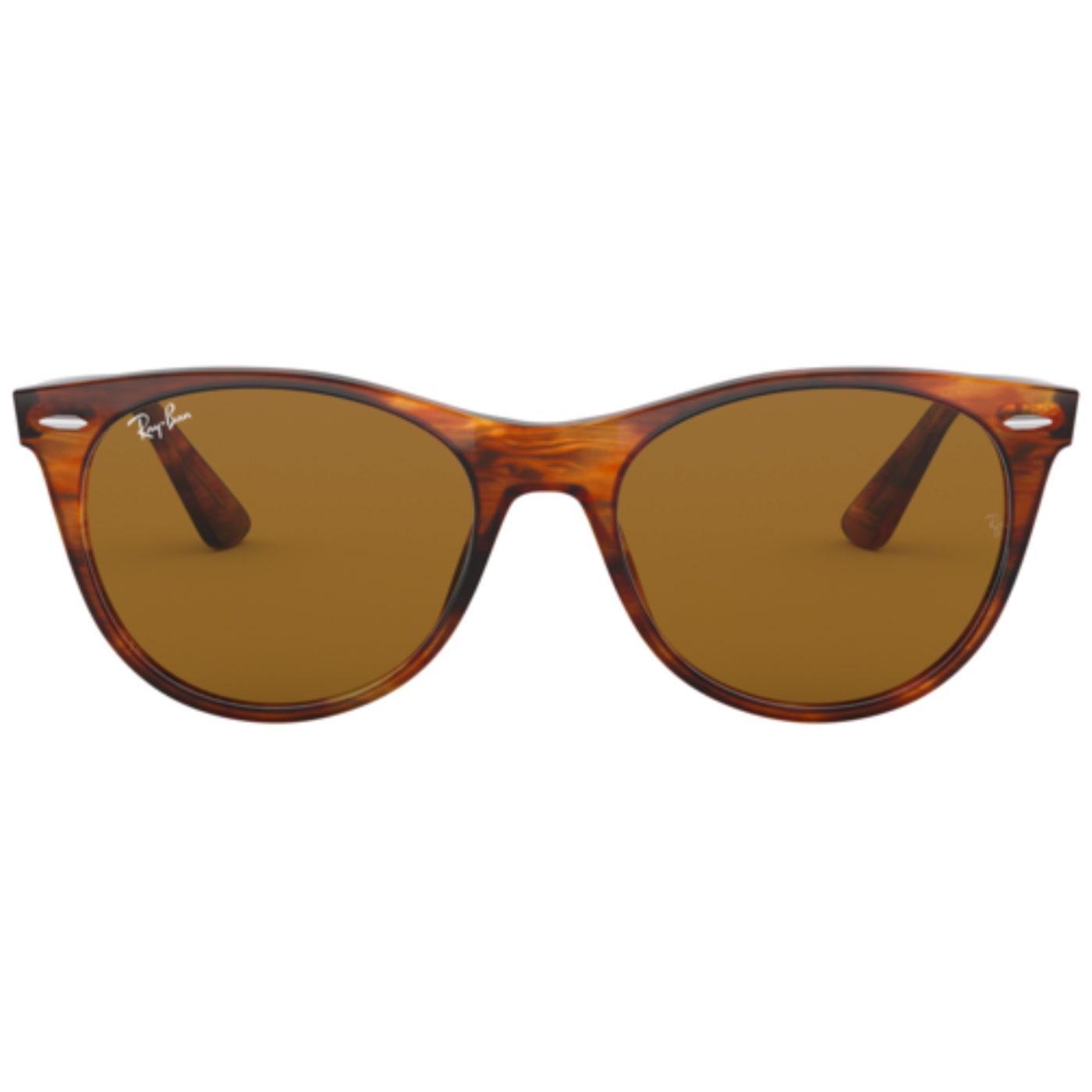 RAY-BAN Retro Striped Havana Wayfarer Sunglasses