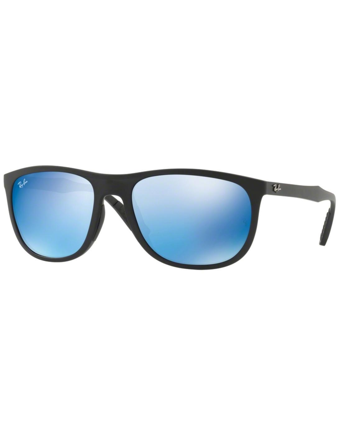 RAY-BAN Retro Wrap Around Wayfarer Sunglasses Blue