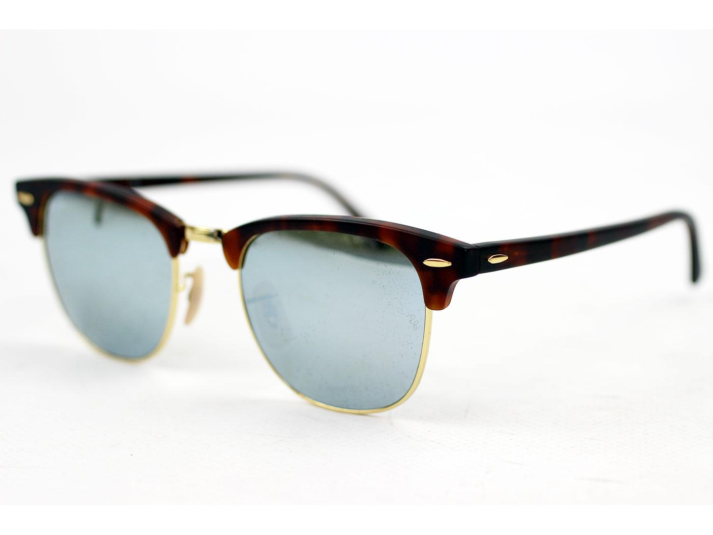 Ray-Ban Clubmaster Retro Mod Sunglasses (Mirror)