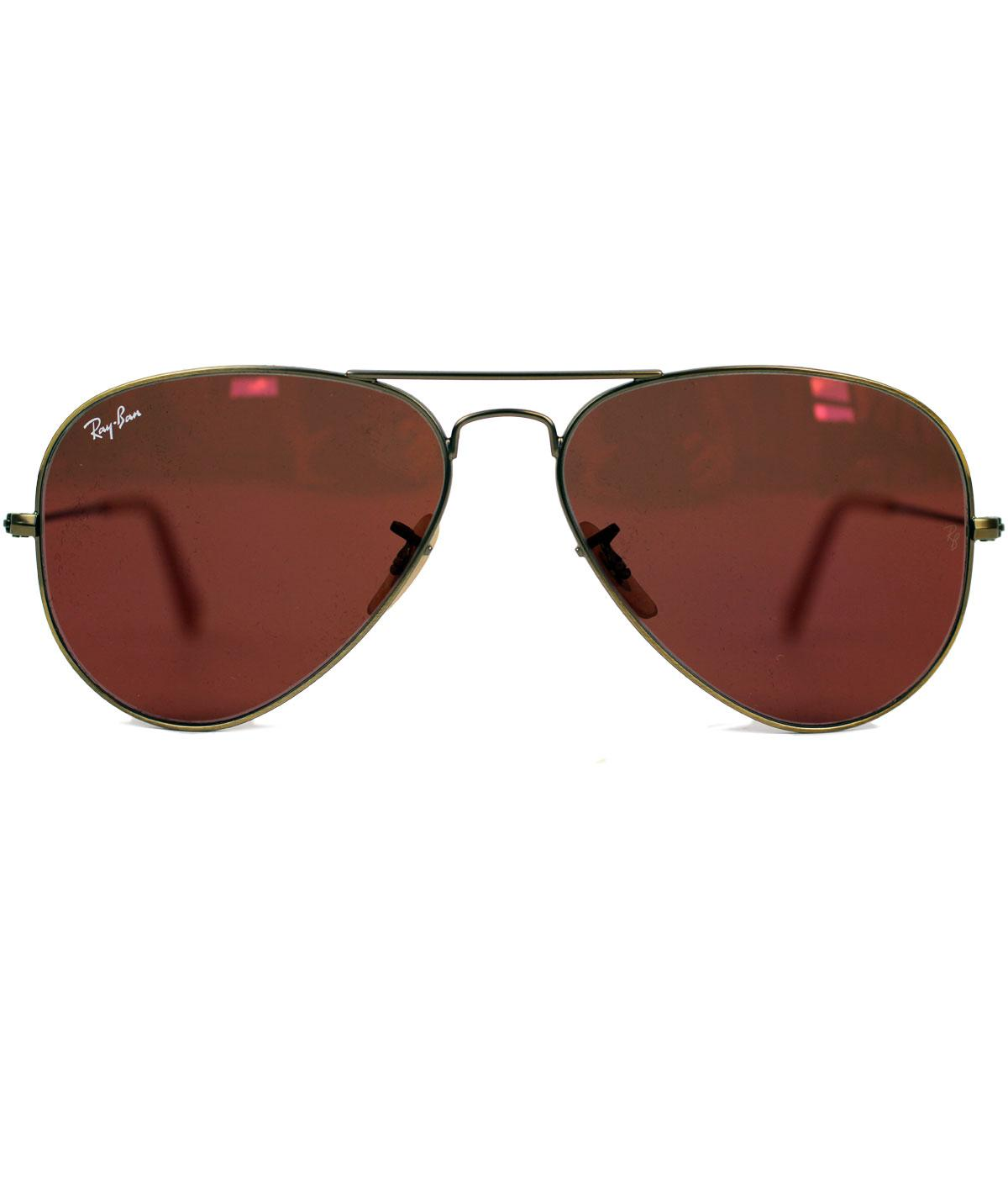 Ray-Ban RB3025 Red Mirror Lens Aviator Sunglasses