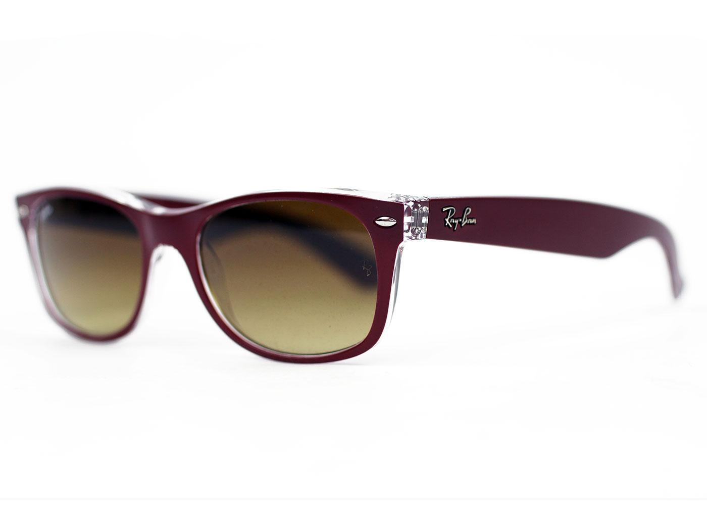 ray ban retro mod small frame new wayfarer sunglasses plum. Black Bedroom Furniture Sets. Home Design Ideas