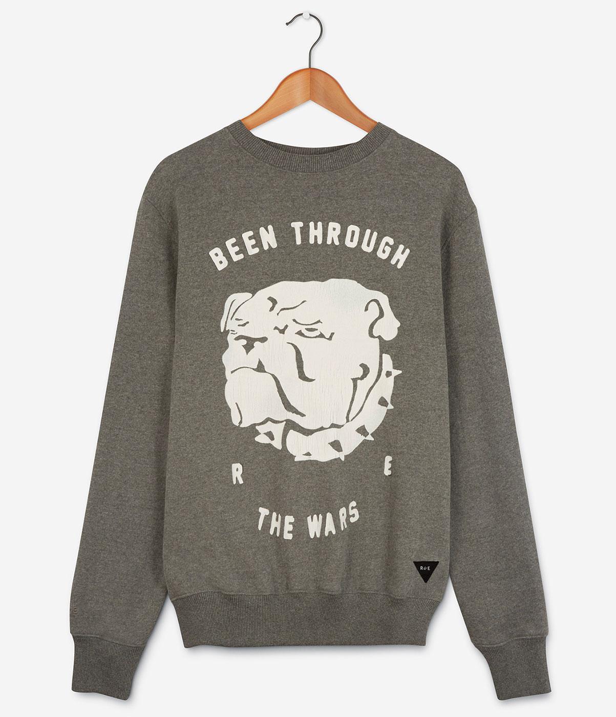 REALM & EMPIRE Alma Wars Bull Dog Print Sweatshirt