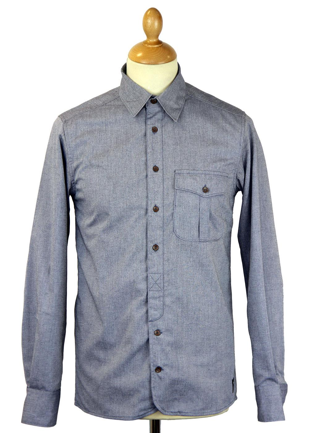 REALM & EMPIRE Retro Mod Chambray Engineers Shirt