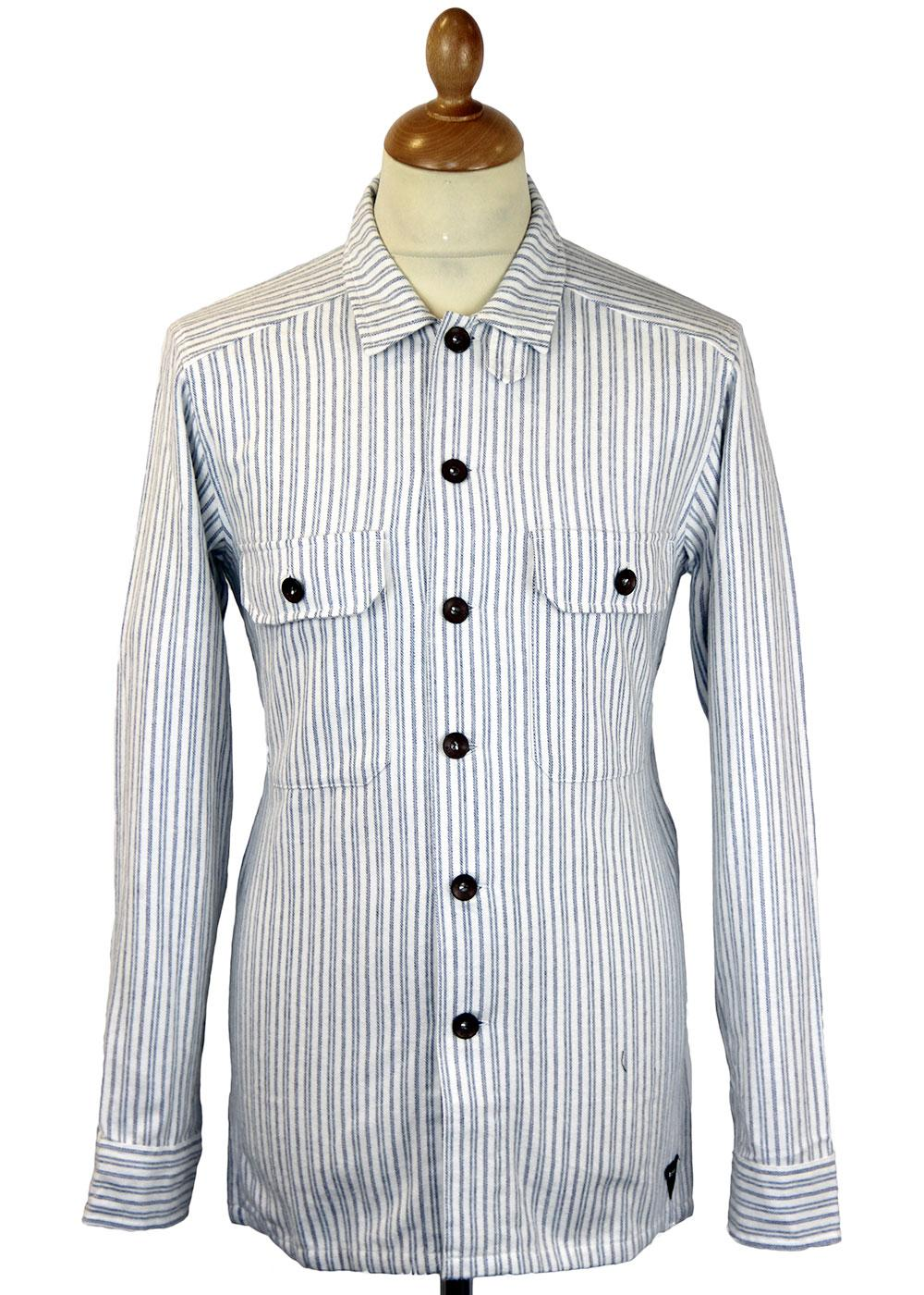 REALM & EMPIRE Original Stripe Gunner Overshirt