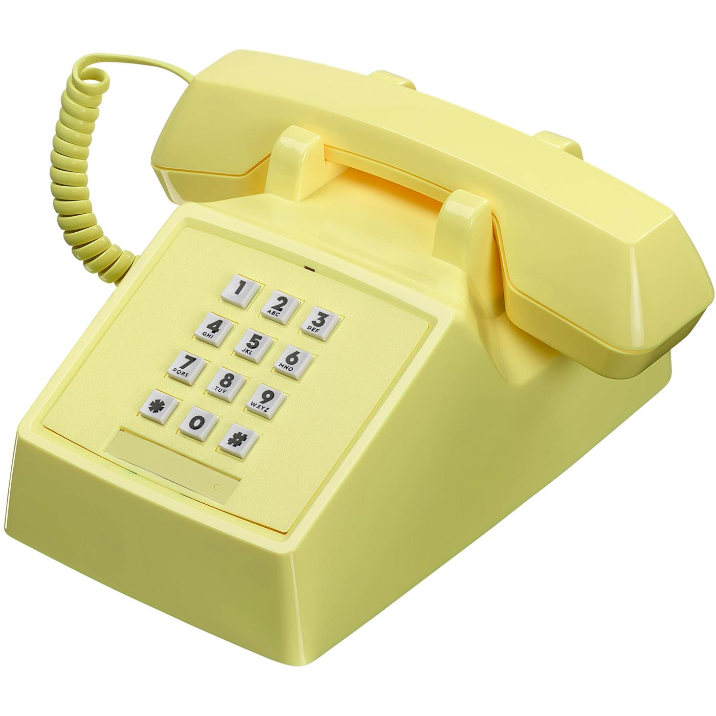 2500 Phone Retro 80s Vintage Telephone in Lemon