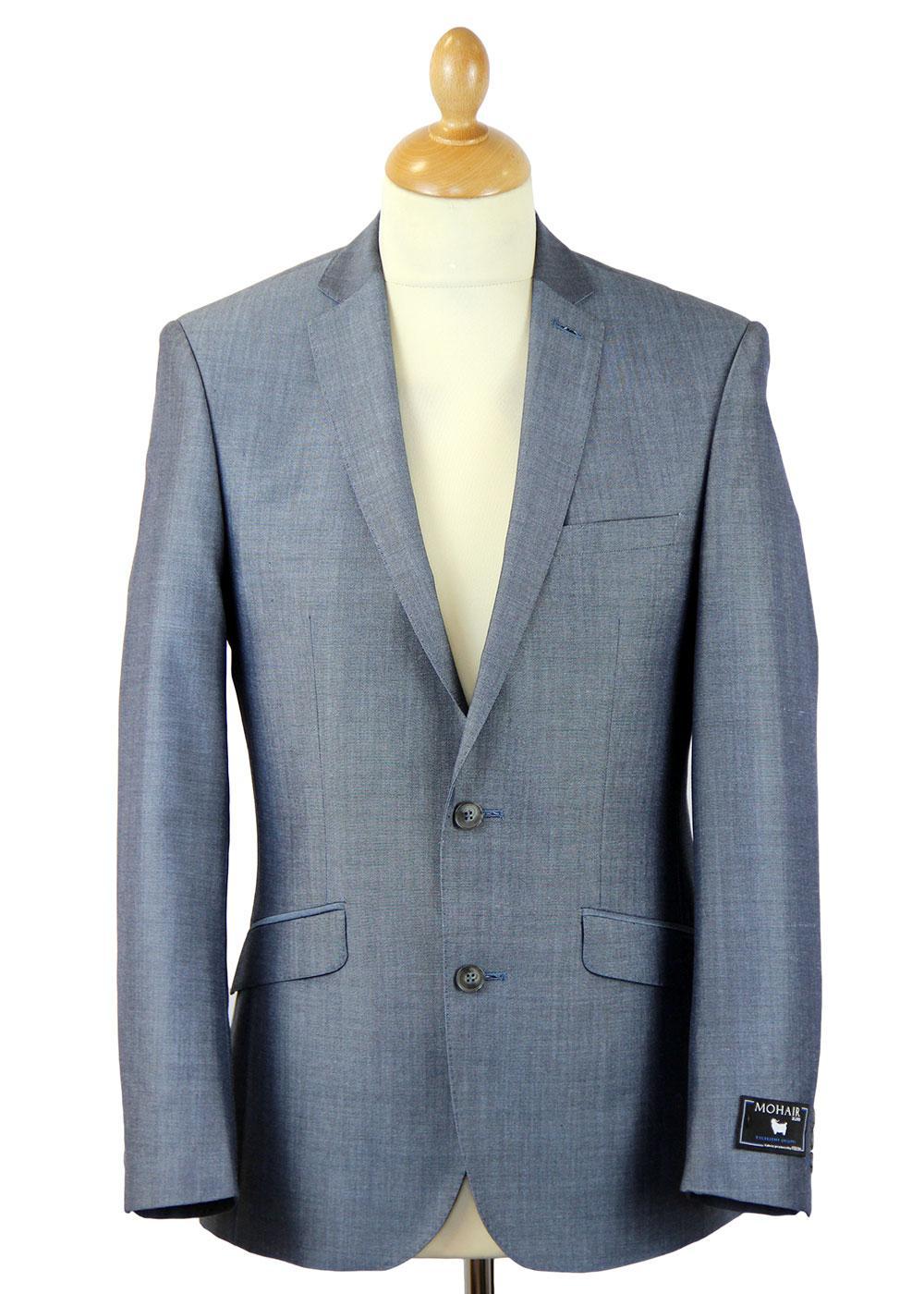 Retro Mod 2 Button Mohair Blend Suit Jacket (LB)
