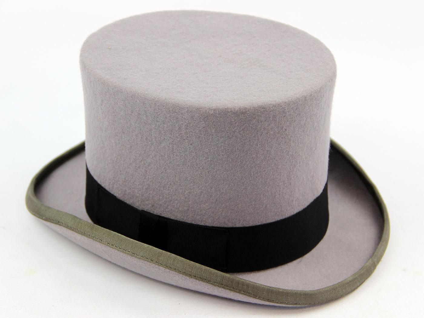 Topper Mens Retro Smart Dress Top Hat GREY