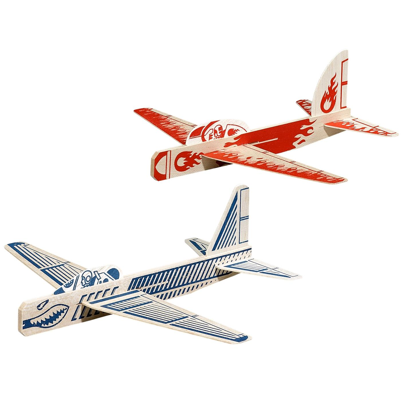 RIDLEYS Retro Vintage Racing 50s Glider Planes Set