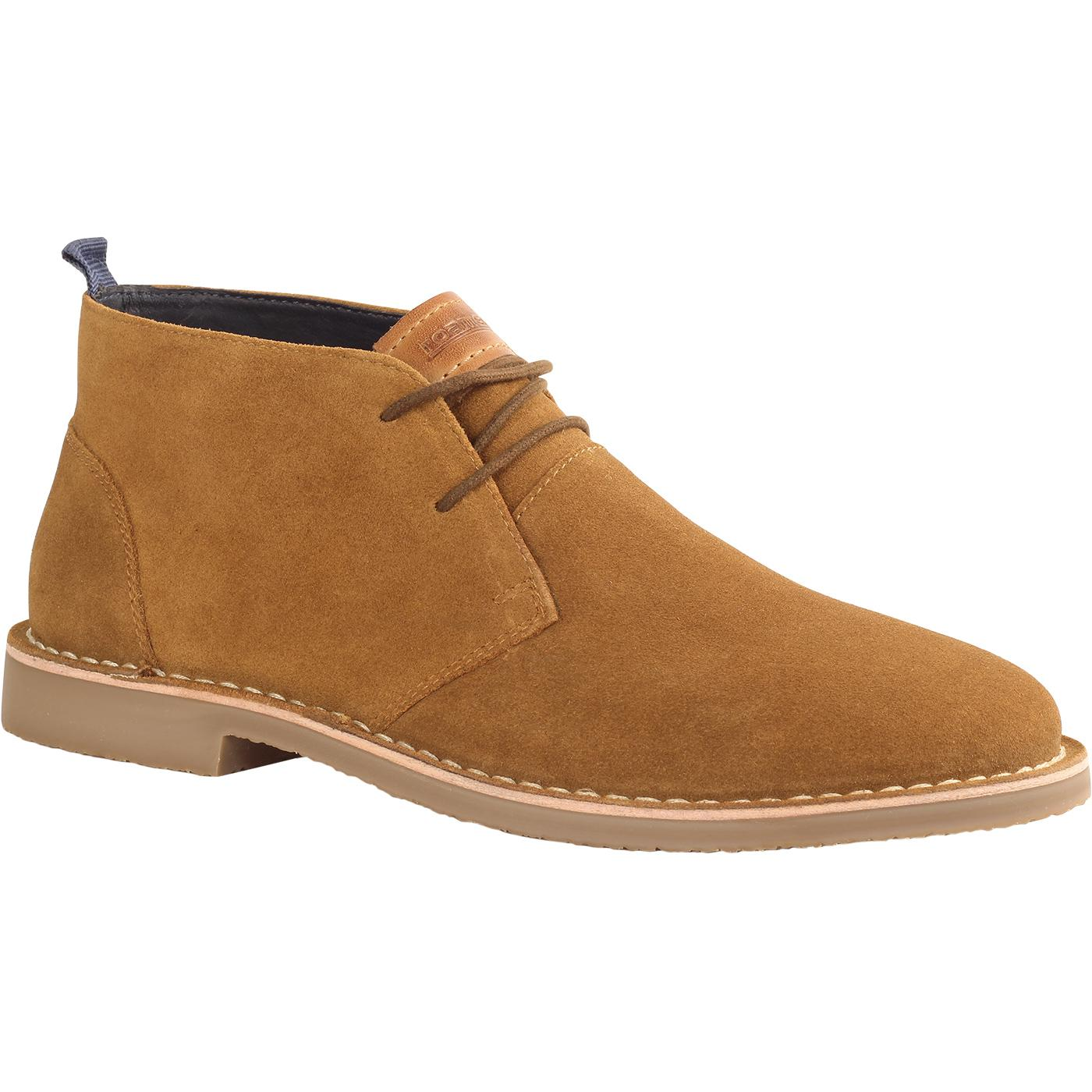 Men's Retro Mod Classic Suede Desert Boots (Tan)