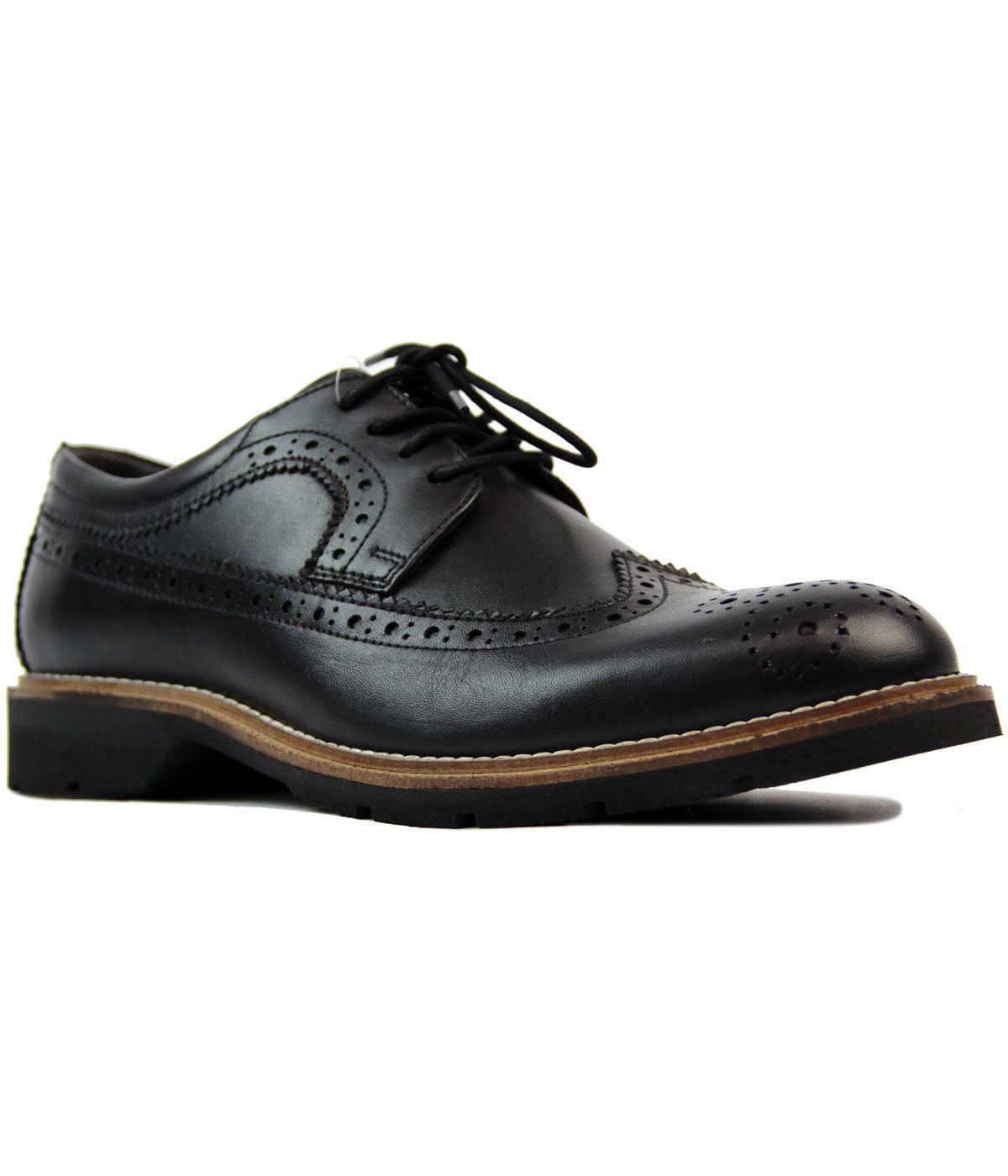Harvard Retro Mod Wing Cap Brogue Gibson Shoes (B)