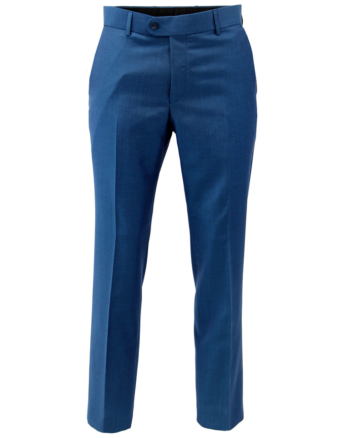 Retro 60s Mod Turquoise Mohair Blend Slim Trousers