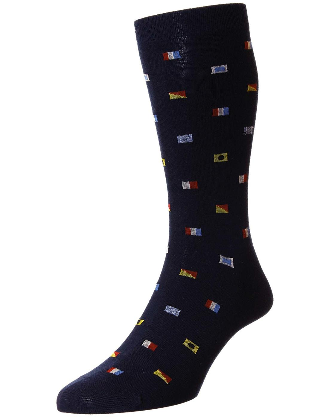 Burgee SCOTT NICHOL Retro 1970s Flag Motif Socks