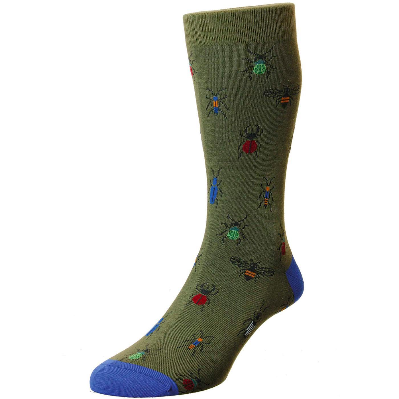 + Hexa SCOTT-NICHOL Made in England Beetle Socks