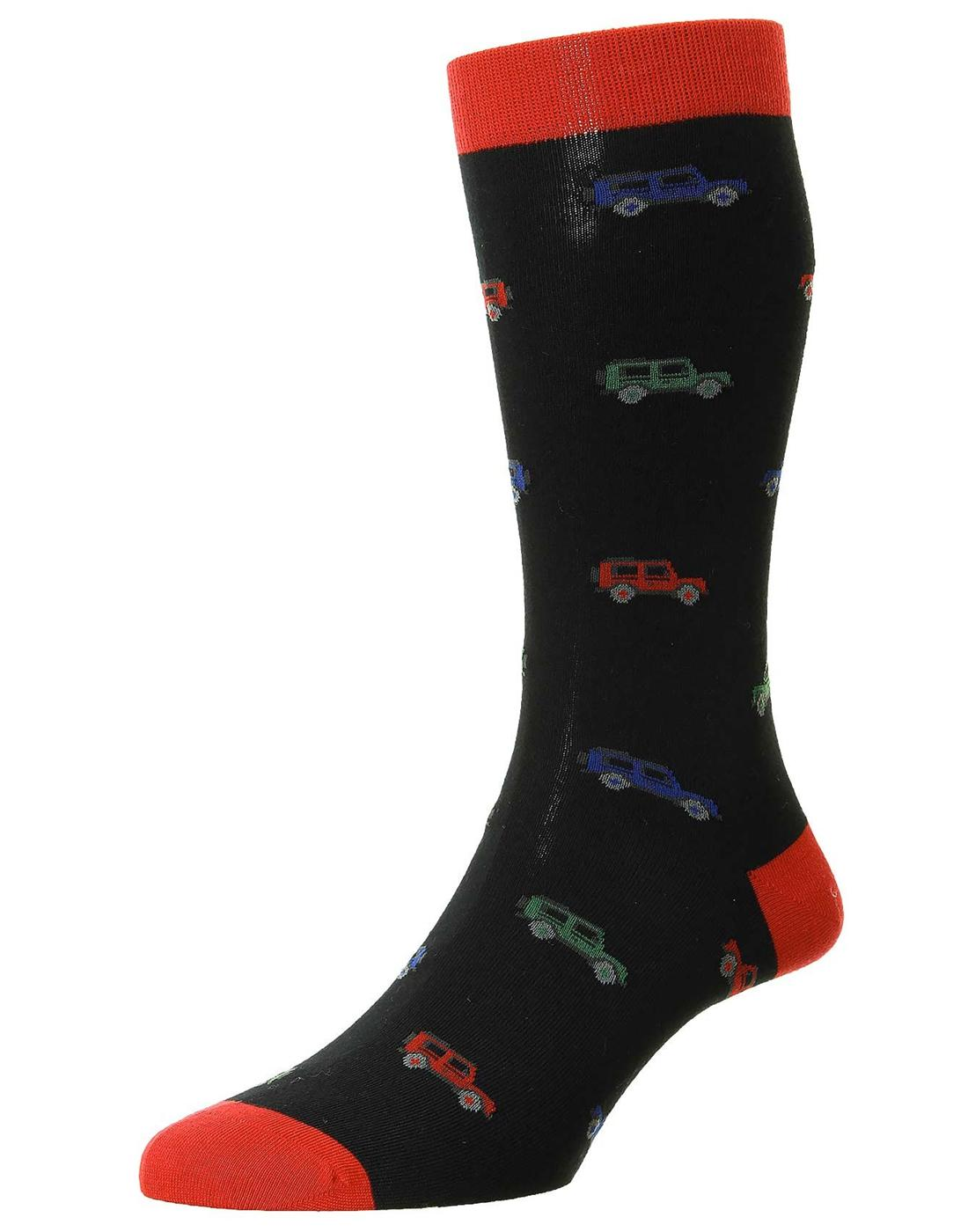 + Longshaw Cars SCOTT-NICHOL Retro Mens Socks