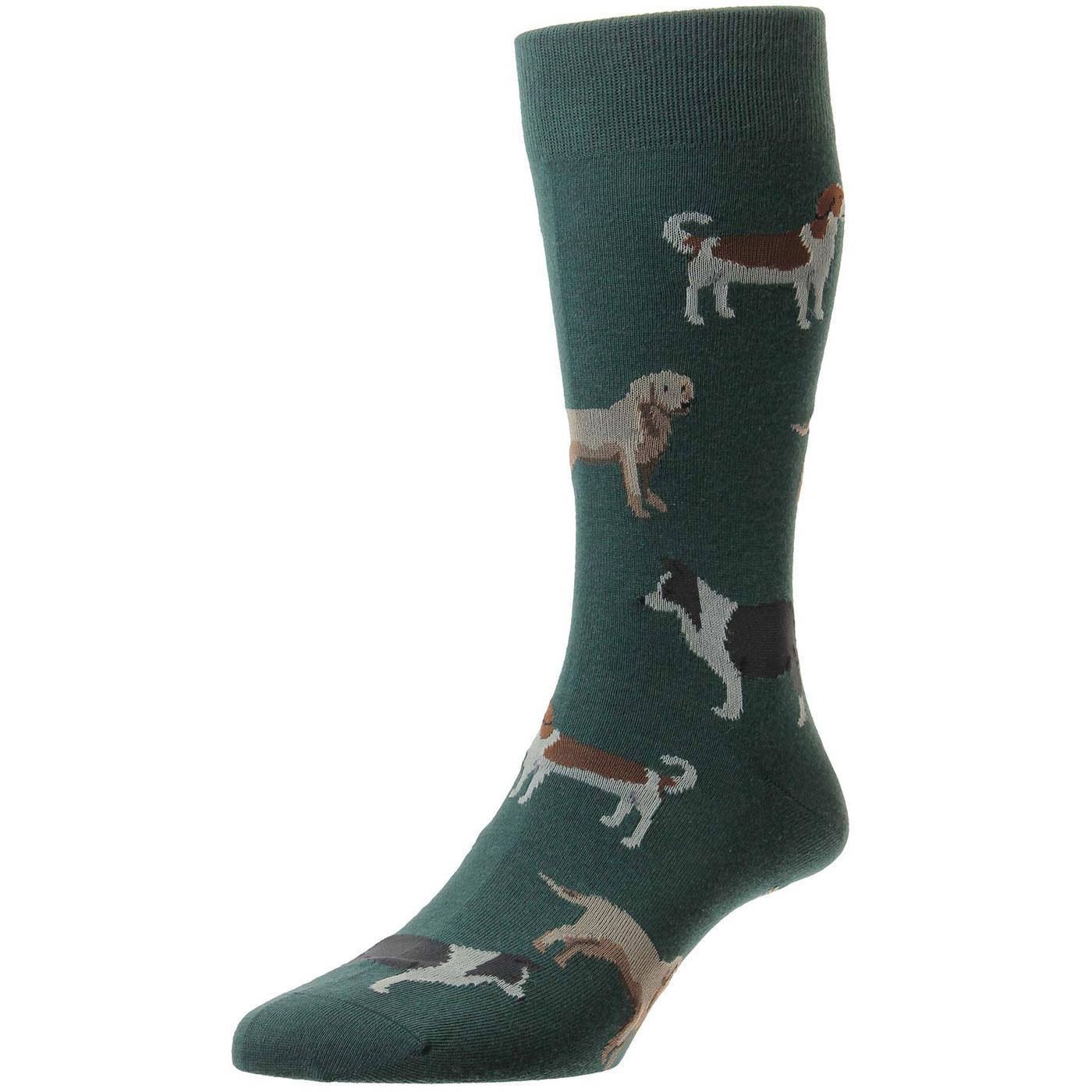 + Peder Dogs SCOTT-NICHOL Mens Dogs Pattern Socks