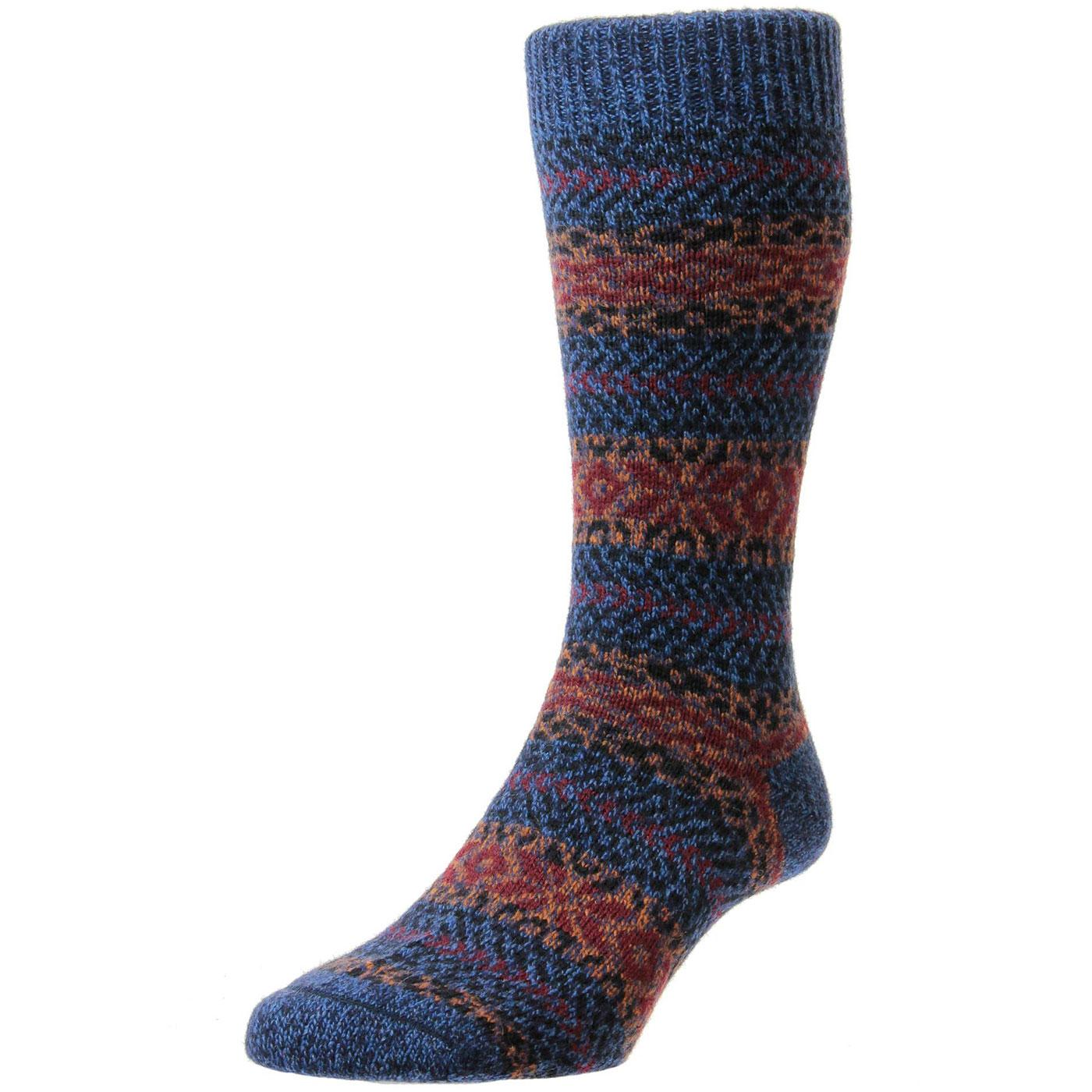 + Farne SCOTT-NICHOL Retro Fairisle Chunky Sock D