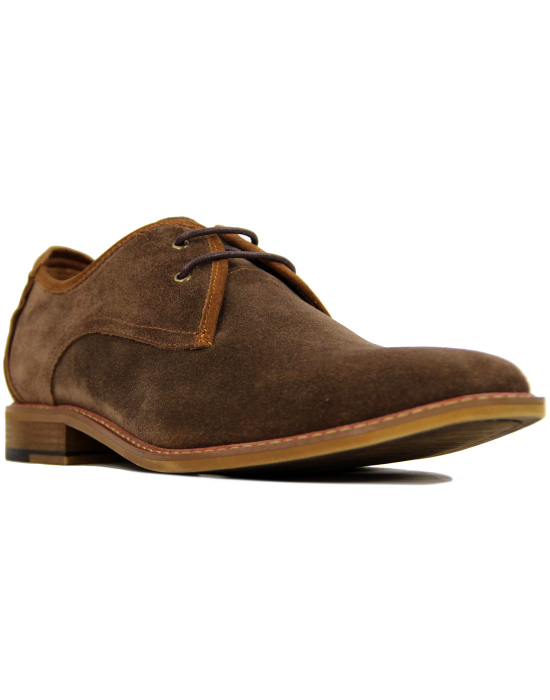 Logan SERGIO DULETTI Mod Piped Suede Derby Shoes