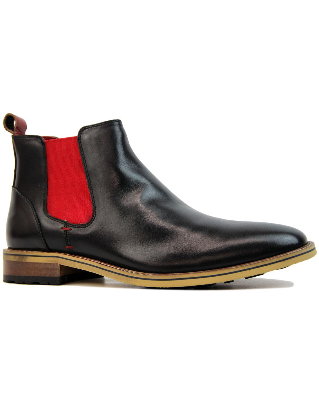 Lenny SERGIO DULETTI Mod Red Gusset Chelsea Boots
