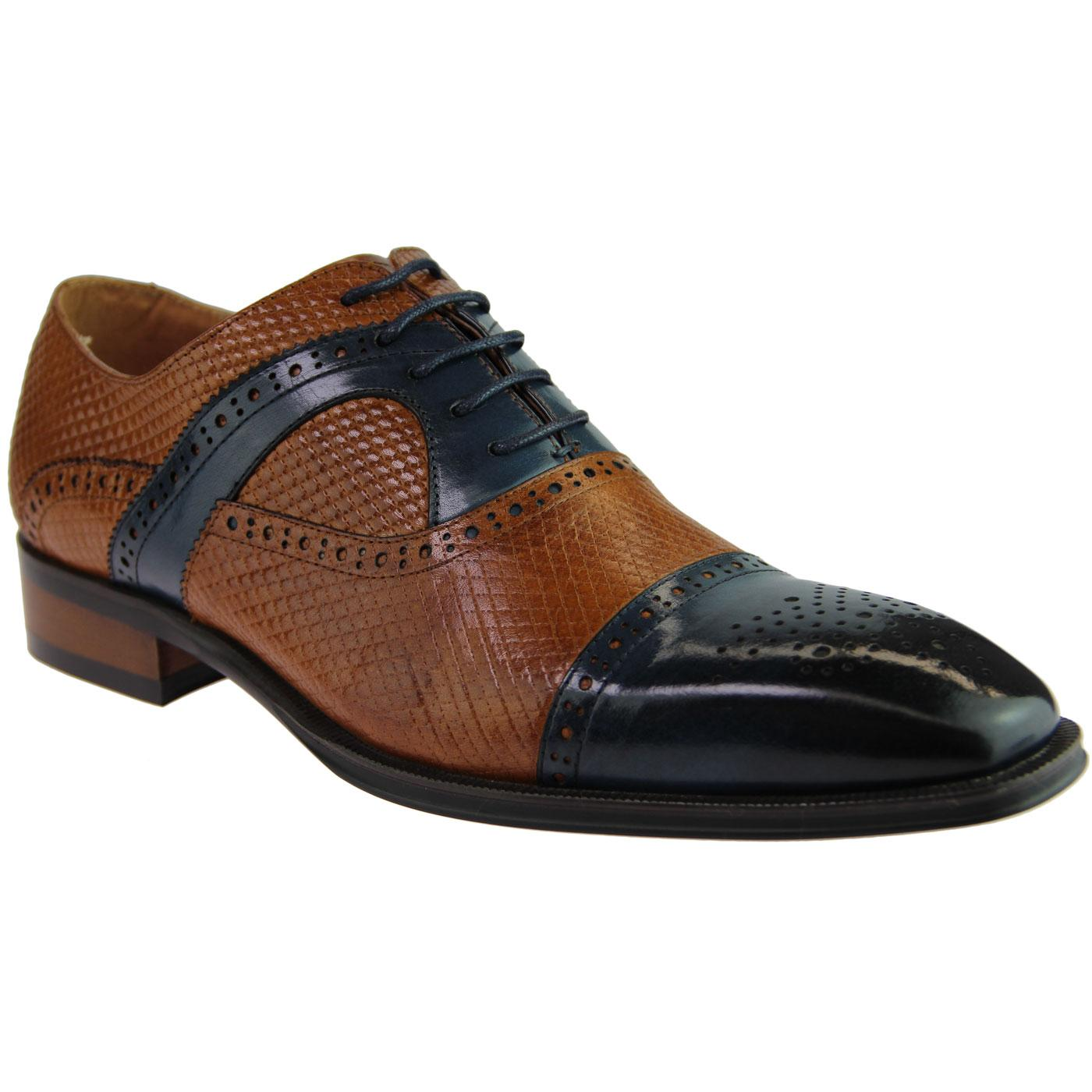 Montegro SERGIO DULETTI Mod Two Tone Brogues BROWN