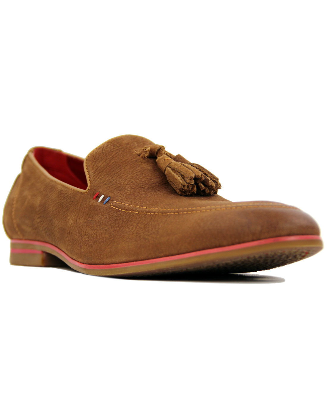 Rene SERGIO DULETTI Mod Leather Tassel Loafers TAN