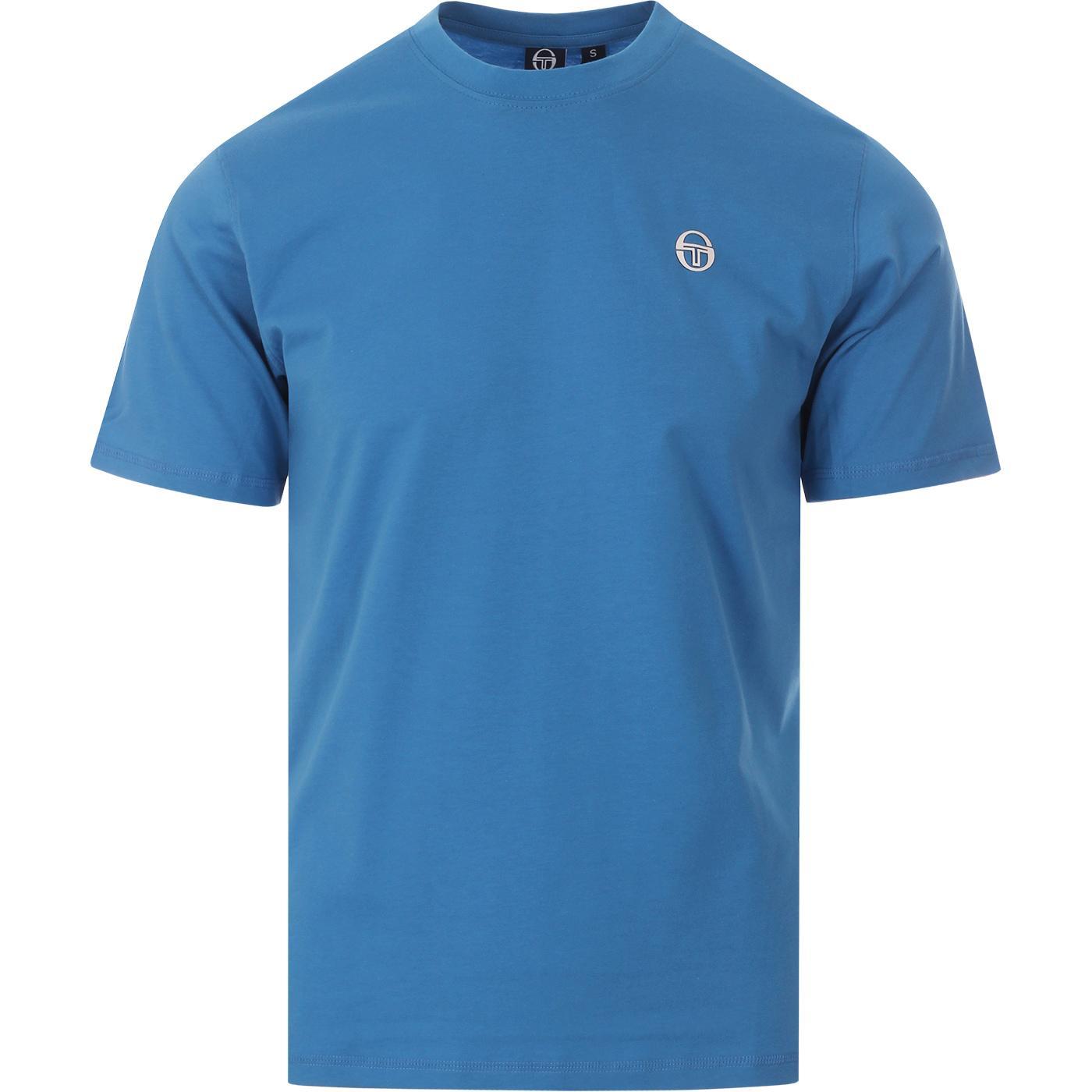 Run 020 SERGIO TACCHINI Retro Logo Tee BLUE/WHITE