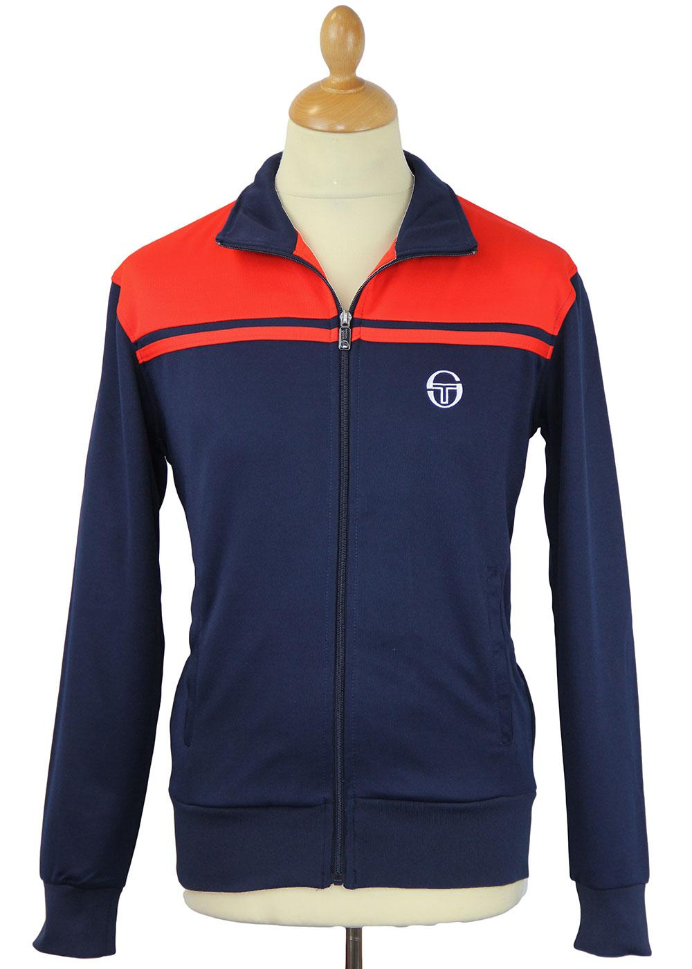 sergio tacchini retro 80s indie young line track jacket navy. Black Bedroom Furniture Sets. Home Design Ideas