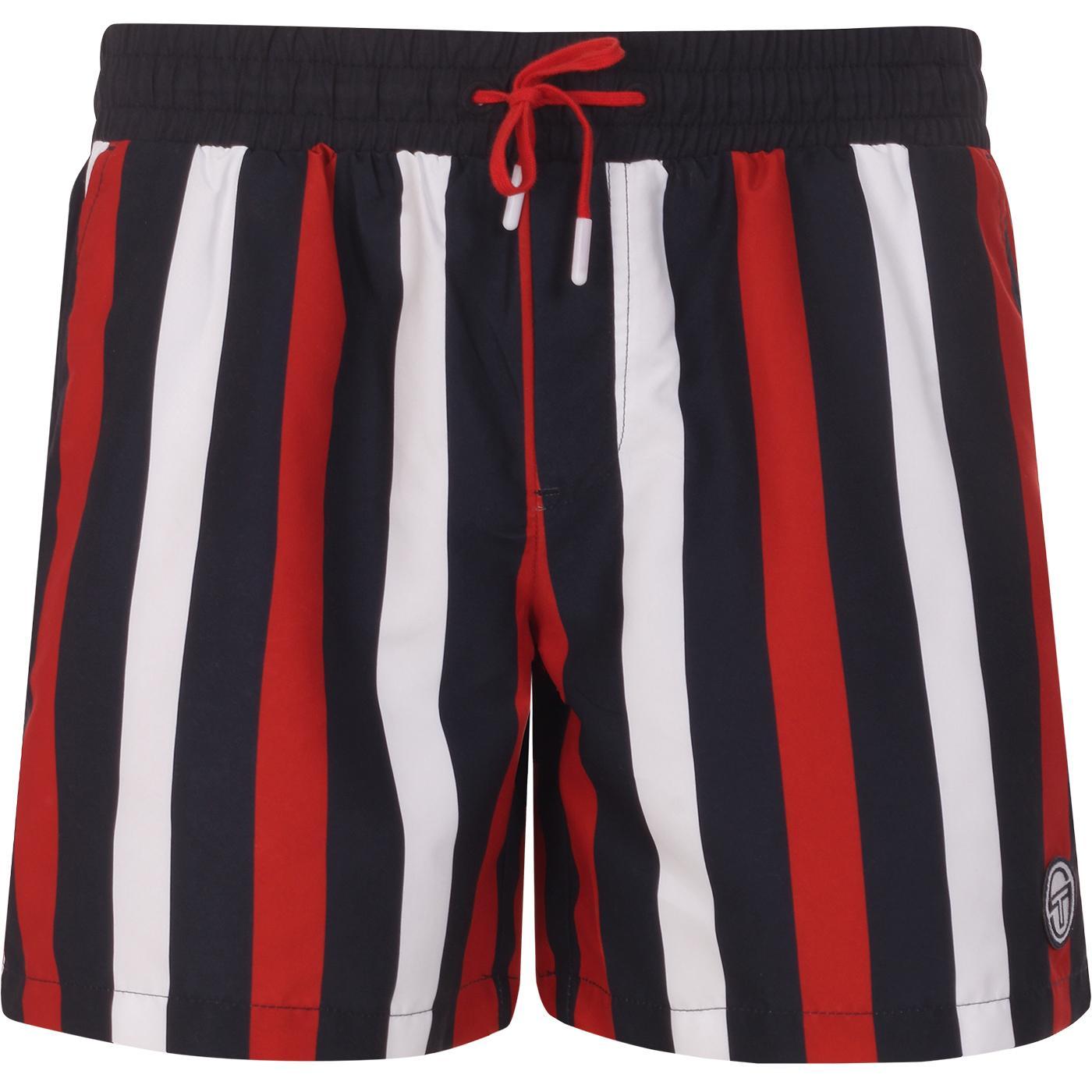 SERGIO TACCHINI Retro Stripe Swim Shorts NIGHT SKY