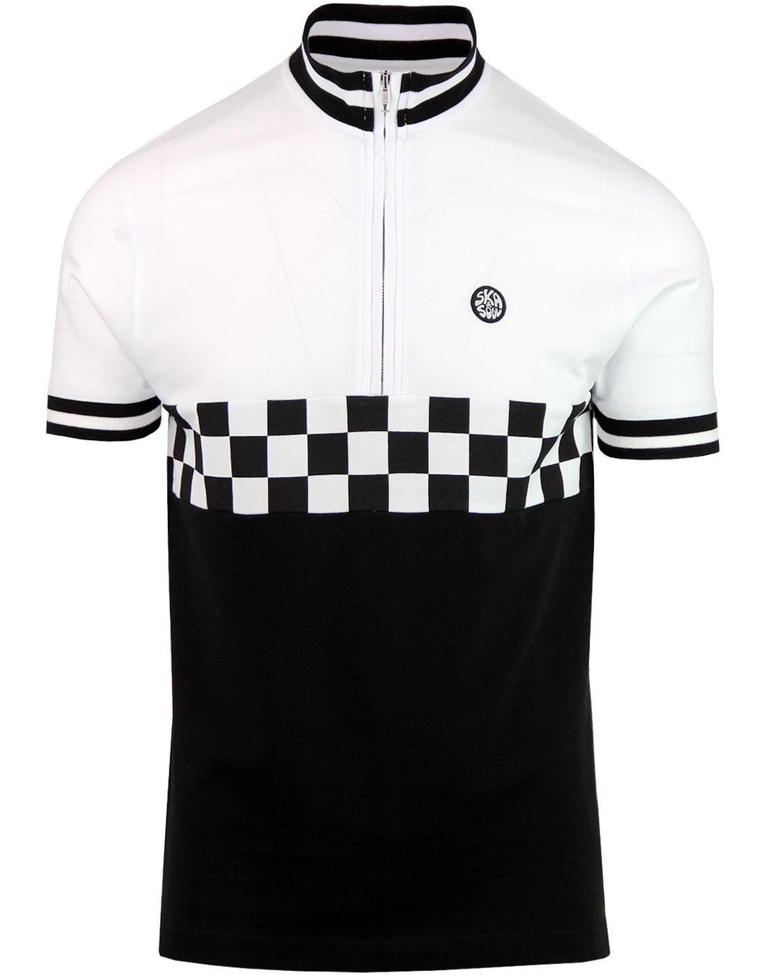 SKA & SOUL Mod Checkerboard Pique Cycling Top W
