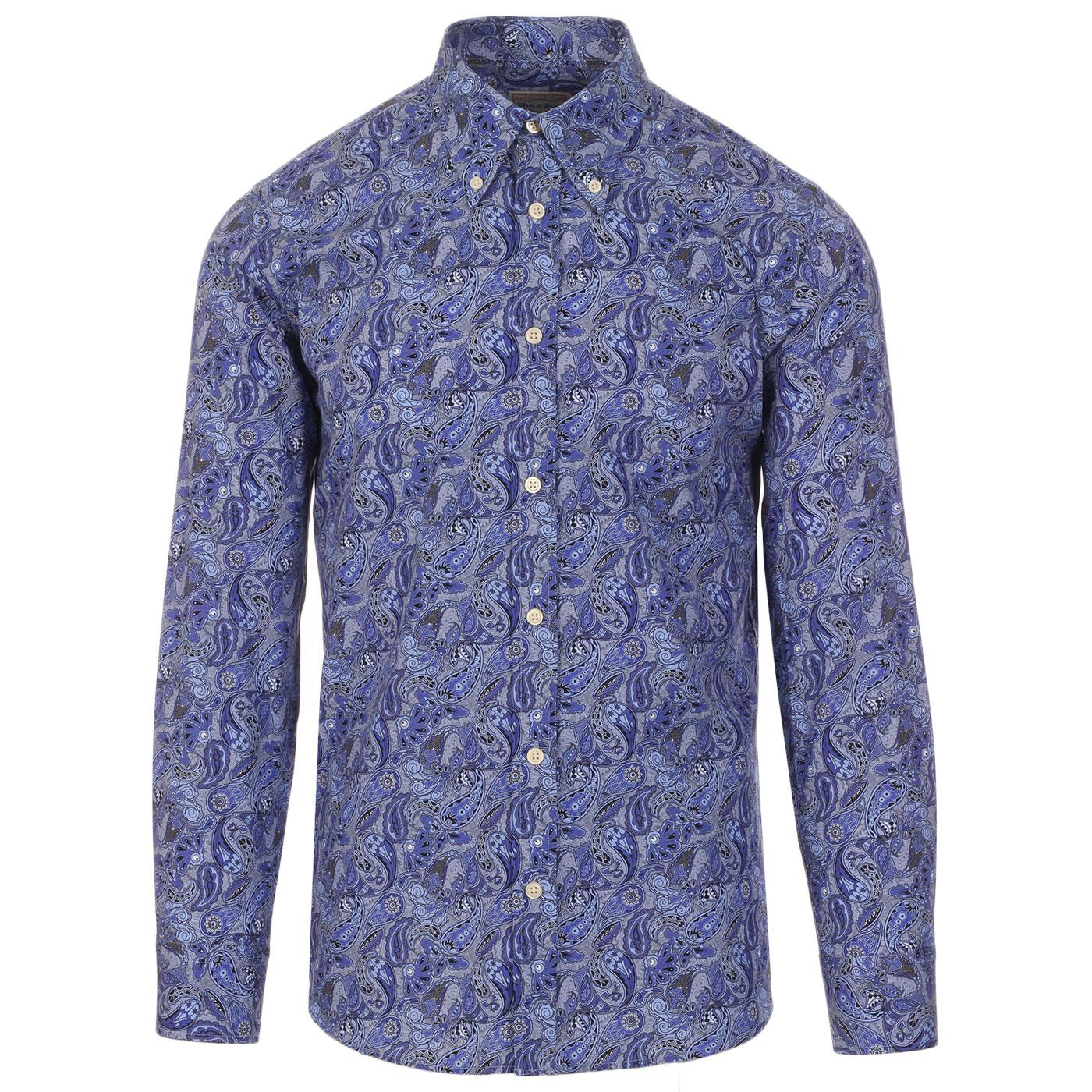 SKA & SOUL 60s Mod Psychedelic Paisley BD Shirt