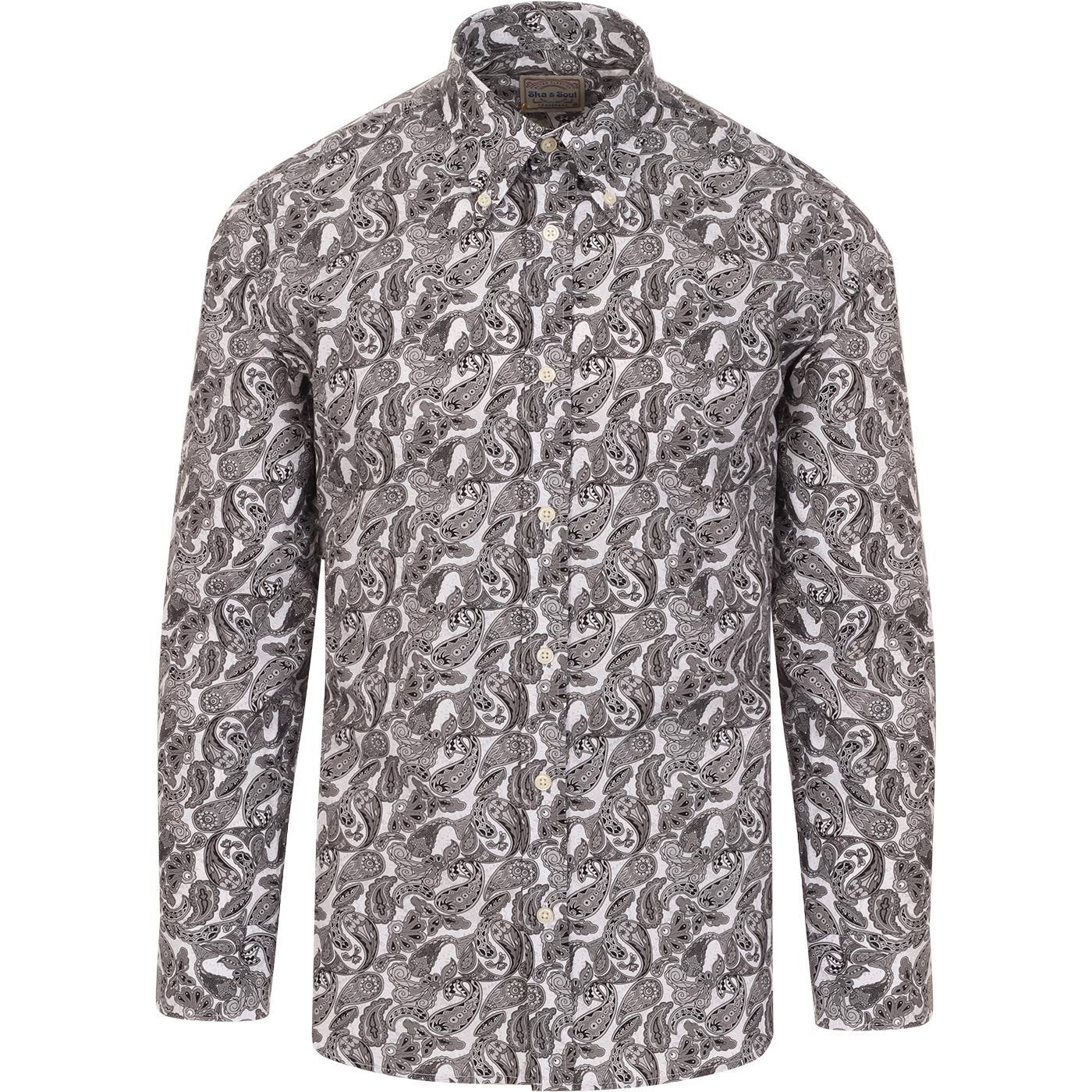 SKA & SOUL 60s Mod Psychedelic Paisley BD Shirt G
