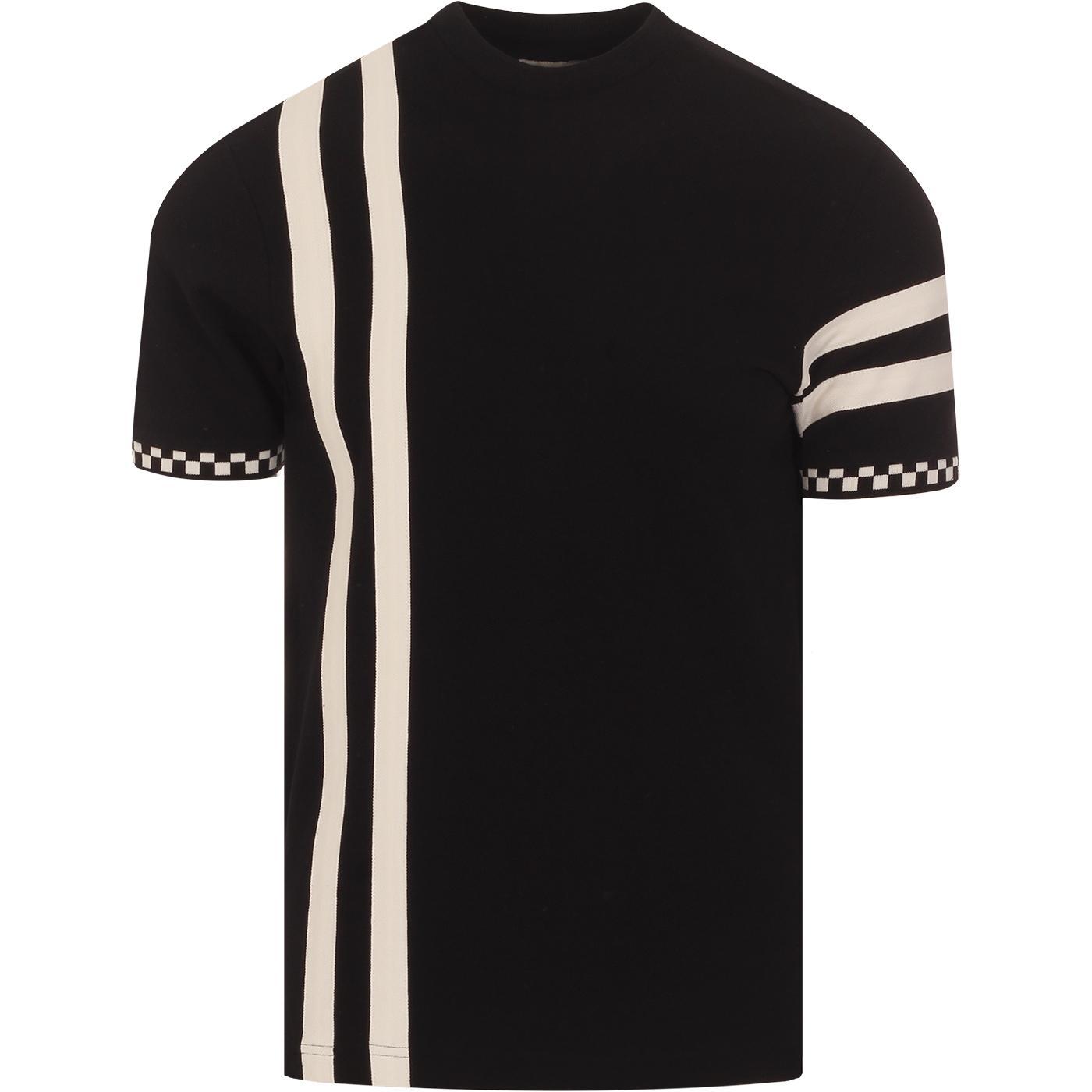 SKA & SOUL Mod Checkerboard Racing Stripe Tee (B)