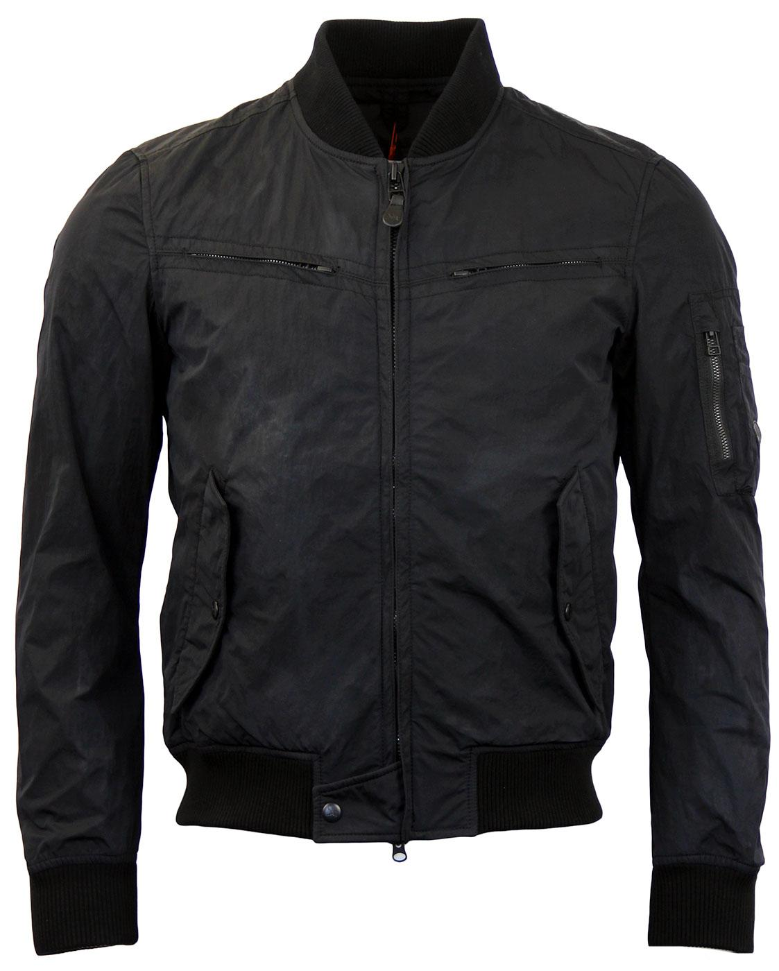 SPIEWAK L2B Retro Mod Caviar Flight Bomber Jacket