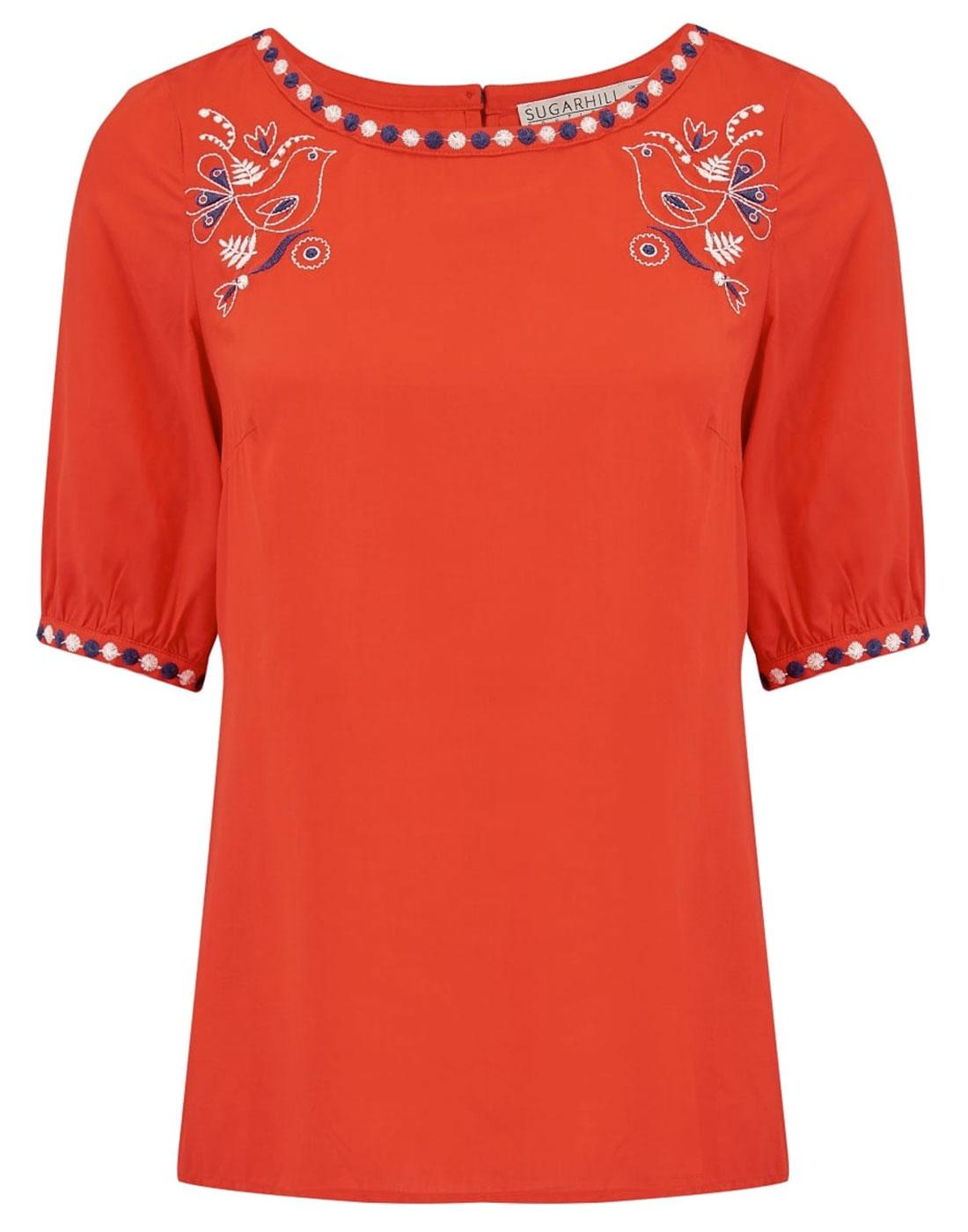 Folk SUGARHILL BOUTIQUE Retro Boho Summer Top