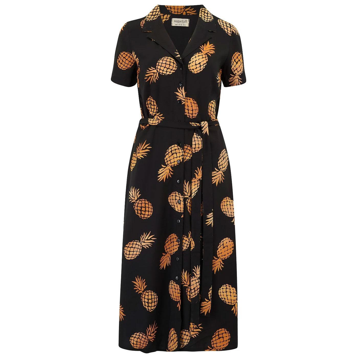 Kendra SUGARHILL Pineapple Batik Retro Shirt Dress